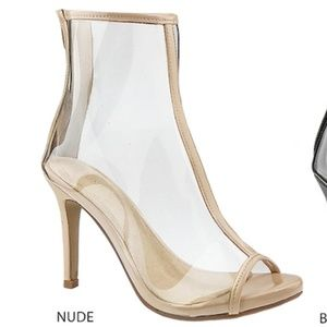 Shoes - New Arrival Nude Clear Perspex pvc Ankle booties